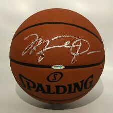 Michael Jordan Signed NBA Spalding Basketball UDA COA w Original BOX - BOLD AUTO