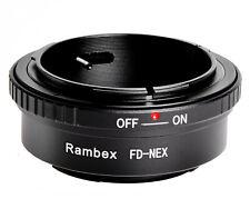 RAMBEX Canon FD lens to Sony NEX E mount camera Adapter NEX6 NEX7 Alpha A3500