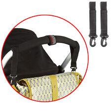 2 Pram Clips Bag Buggy Set Phil+Teds Bag Hooks Fit Bugaboo, Quinny Black New