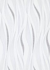 Tapete Edito Erismann Vliestapete 6773-10 677310 Retro Wellen Streifen weiß grau