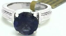 GENUINE 3.48 Carats IOLITE & DIAMONDS 14K Gold Ring *FREE SHIPPING & APPRAISAL*