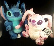 Stitch Lilo Angel Plush Toy Doll New Lot Set 2 Authentic Disney Parks 9inch Pair