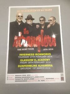 THE STRANGLERS - ORIGINAL CONCERT POSTER THE RUBY TOUR 1974 - 2014 PUNK POSTER