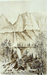 Sierra MOUNTAINS MOUNT DANA BLOODY CANYON YOSEMITE PARK ~ Antique 1888 Art Print