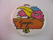 Vintage Foreign Pin Button: GREGEC AERO