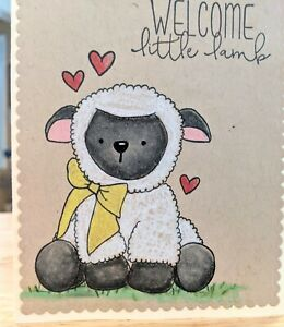 Baby Handmade Greeting Card, expecting, shower, new mom, neutral,