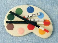Paleta de Pintura de artistas muñeca casa miniatura obras de arte arte artista