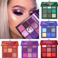 9 Farbe Eyeshadow Make-Up Set Schimmern Matt Schminke Shadow Lidschatten Palette