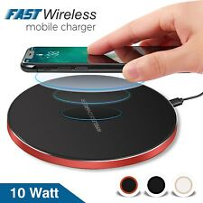 QI Wireless Charger Fast Charging Pad For Apple Samsung Galaxy S10 Plus S9 S8 S7