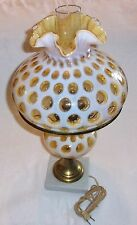 Fenton Art Glass Honeysuckle Coin Dot Parlor Boudoir Lamp