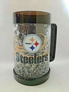 NFL Pittsburgh Steelers Freezer Drinking Mug NEW 16 oz Frosty Cup Full Color