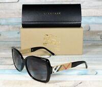 BURBERRY BE4160 34338G Black Grey Gradient 58 mm Women's Sunglasses