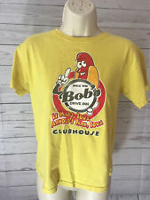Bob's Drive Inn Clubhouse Hot Diggity Dog Yellow Novelty TShirt Size Youth Large