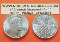 ESPAÑA 100 PESETAS 1966 * 19 70 PLATA SIN CIRCULAR FRANCO ESTADO 1970 ESPAÑOL SC