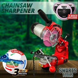 Swarts Tools Chainsaw Sharpener 350W Alloy Chain Saw Electric Grinder Bench Tool