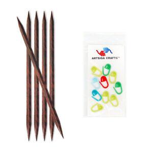 Knitter's Pride Cubics DPN 8in. (20cm) Knitting Needles Sz US 9 (5.5mm)