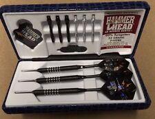 Hammer Head Knurled 24g Steel Tip Darts 90% Tungsten 2442BK w/ FREE Shipping