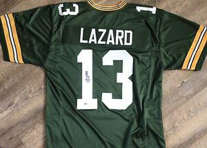 Allen Lazard Autographed Green Bay Packers Replica Jersey Beckett Green H
