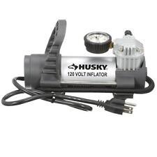 120V Air Tyre Inflator w Pressure Gauge Bike Chuck Car Tire Pump Compressor Tool