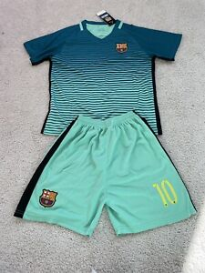 Messi Argentina Soccer Jersey And Shorts Kids Uniform Size 28 New Kit Football