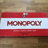 Vintage Waddingtons Monopoly Original Classic 1961 Edition Board Game 60's Red