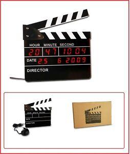 Look Digital Director's flap Clapper Clock Clapperboard Table Wall Alarm