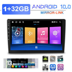 """9"""" Touch Android 10.0 Car FM Radio Stereo MP5 Player GPS Navi Wifi BT 1+32GB Kit"""
