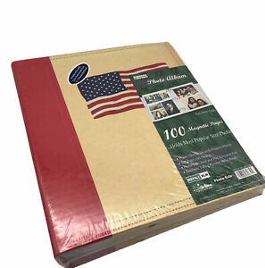 Pioneer American Flag Photo Album 100 Magnetic Pages Patriotic Style LM-100U RLM