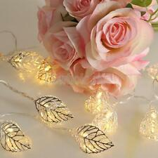 Silver Leaf STRING LIGHTS PARTY PATIO CHRISTMAS WEDDING BEDROOM DECOR