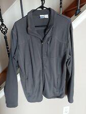 Mta Sport Mens Knit zip front Athletic Jacket - Black - size L, gray w/pockets