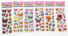 "6 sheets kids crafts wall car Stickers children lot ""Butterfly and flower"" gift"