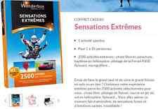 E-Billet Wonderbox ''Sensations Extrêmes'' e-billet 249 € au lieu 279€