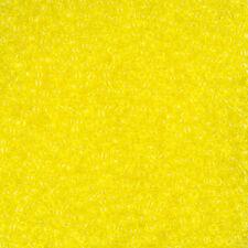 Toho Size 11/0 (2.2mm) Round Japanese Seed Beads Transparent Lemon 8.2g (L27/3)
