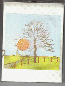 BARGAIN!! Thea Gouverneur Spring Scene Counted Cross Stitch Kit Evenweave