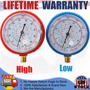 2PCS Refrigerant Gauge Low&High Pressure AC Air Conditioner Manifold R134A R410A