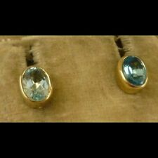 Topaz Yellow Gold Earrings Victorian Fine Jewellery