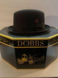 "Vintage Dobbs Fedora Hat, Size 7 1/4"""