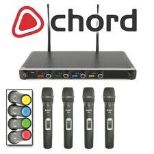 Chord NU4-H Quad Portátil 4 Canal Voz Iglesia Uhf Inalámbrico Micrófono Sistema