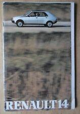 RENAULT 14 orig 1979-80 UK Mkt 36p Sales Brochure - TL LS GTL TS