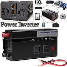 Autofather 2000W Power Inverter Car Truck Vehicle Inverter DC 12V to AC 110-120V