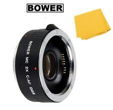 Bower 2x Teleconverter Lens 4E For Canon EOS T7i T6i T6s T5i T4i SL1 70D 60Da 7D