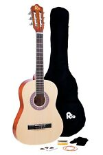 Rio 3/4 Junior Beginner Classical Acoustic Guitar Pack Package Outfit Natural