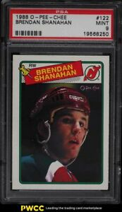 1988 O-Pee-Chee Hockey Brendan Shanahan ROOKIE RC #122 PSA 9 MINT