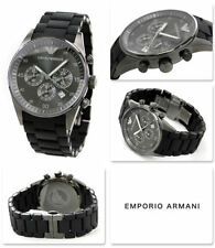 IMPORTED LUXURY EMPORIO ARMANI AR5889 CLASSIC BLACK CHRONOGRAPH MENS WATCH GIFT
