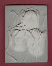 Flower tile #2: Tulips plaster of paris painting project. Single tile.