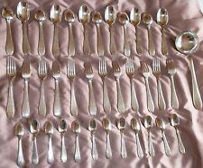 Ménagère métal argenté de style Art déco - 37 pièces - Métal Blanc