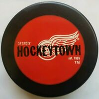 DETROIT RED WINGS OFFICIAL HOCKEYTOWN est.1926 NHL INGLASCO VEGUM HOCKEY PUCK