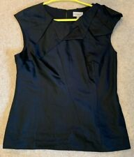 Women's Ladies Karen Millen Silk Black Blouse Top Formal Work Party Size 14