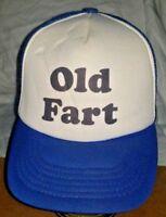 Vintage 1980's Old Fart Hat Snapback Classic Mesh Trucker Cap