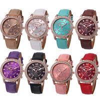 Fashion Women Bracelet Watch Luxury Diamond Analog Leather Quartz Wrist Watches